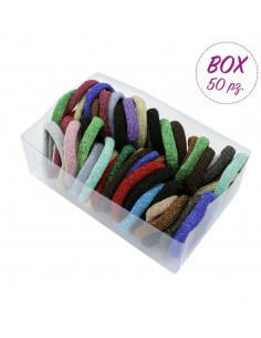 Box Fashion Hair Ties BOX ELASTICI LUREX COL.ASS.50 PZ. | Wholesale Hair Accessories and Costume Jewelery