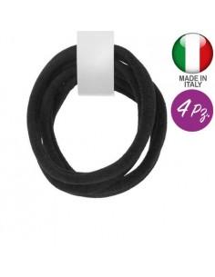 Colorful Elastic Holder ELASTICI MICROFIBRA COLORE NERO PEZZI 4 | Wholesale Hair Accessories and Costume Jewelery