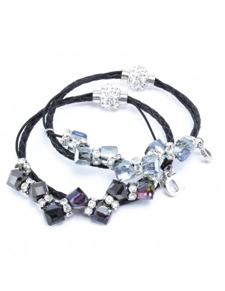 Bracelets with Rhinestones  BRACCIALE ECOPELLE PIETRE E STRASS | Wholesale Hair Accessories and Costume Jewelery