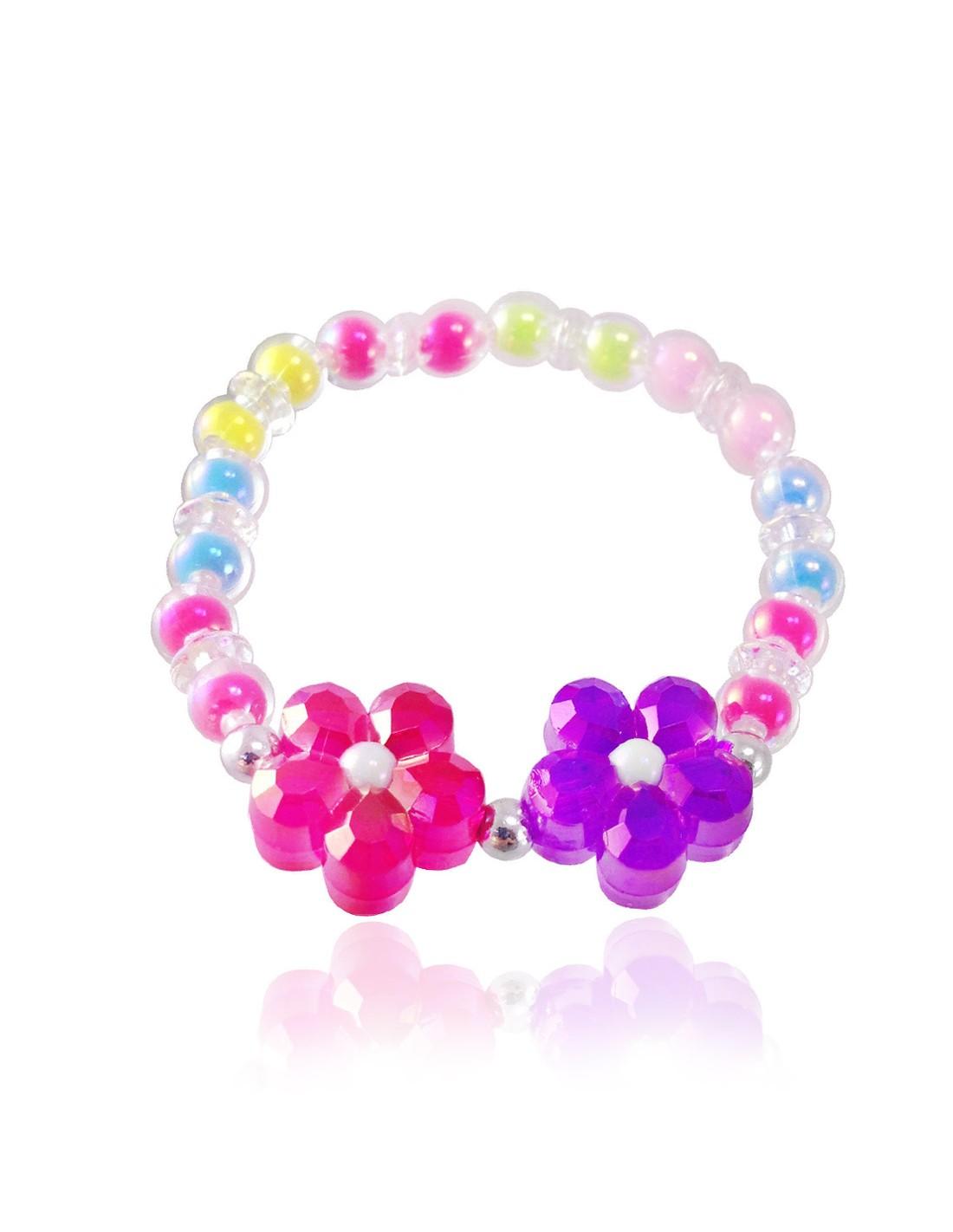 elastici per capelli bambina bimba colorati elastico rosa stelle brillantini