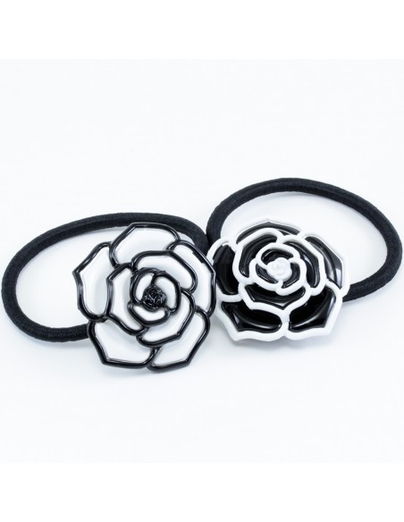 Fashion Hair Ties FERMACODA CON CAMELIA | Wholesale Hair Accessories and Costume Jewelery