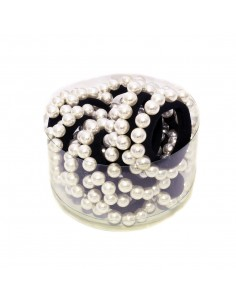 Box Fashion Hair Ties BOX ELASTICI PERLE PZ.20   Wholesale Hair Accessories and Costume Jewelery