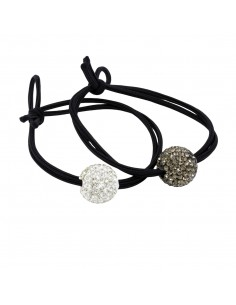 Hair Ties with rhinestones ELASTICI SFERA STRASS PZ 2 | Wholesale Hair Accessories and Costume Jewelery