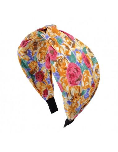 Fashion Headbands CERCHIO CM 08 RASO CON NODO FANTASIA FLOREALE | Wholesale Hair Accessories and Costume Jewelery