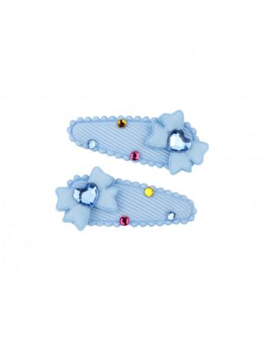 Clic Clac Bimba CLIC CLAC CM 05 CON FIOCCHI CUORI STRASS PZ 5 | Wholesale Hair Accessories and Costume Jewelery