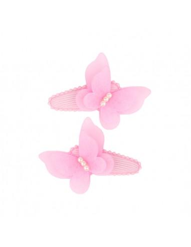 Clic Clac Bimba CLIC CLAC CM 05 CON FARFALLA PERLINE PZ 5 | Wholesale Hair Accessories and Costume Jewelery