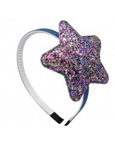Headbands for Childs CERCHIO CM 1 GLITTER CON STELLA | Wholesale Hair Accessories and Costume Jewelery