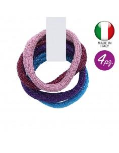 Hair Ties fashion fantasy ELASTICI GLITTER TONI ROSA PEZZI 3 | Wholesale Hair Accessories and Costume Jewelery