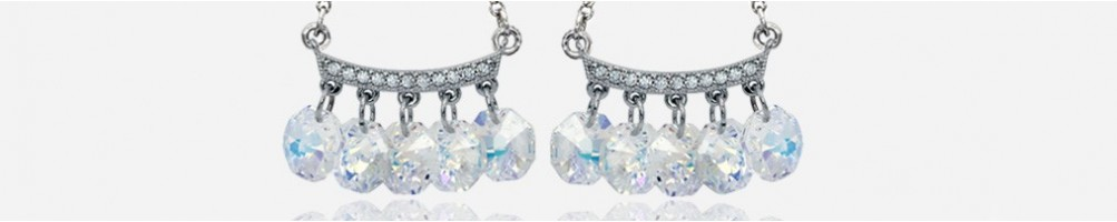 Wholesale long fashion earrings with rhinestones and Swarovski