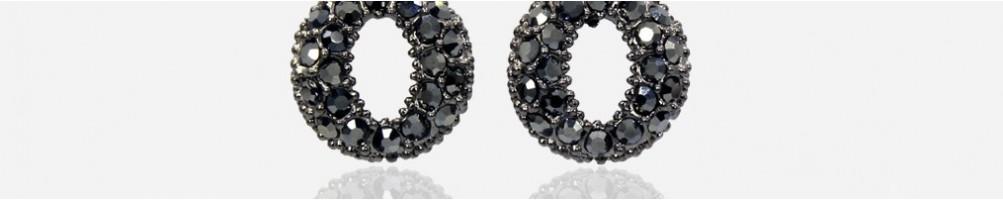 Wholesale short fashion earrings with rhinestones and Swarovski
