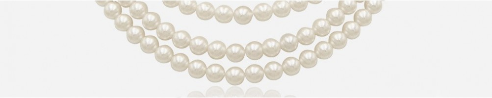 Wholesale sale necklaces with natural and colored pearls